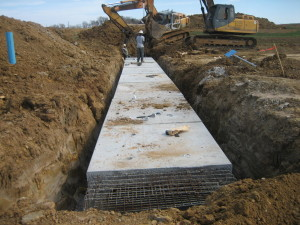 Box culvert installed at Steeplechase South, Hickory Creek, TX