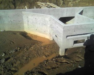 """Headwall and outfall structure at """"The Vineyards"""" housing subdivision in Kennedale, TX"""