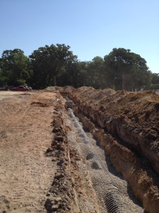 """24"""" HDPE Storm Drain line to service 50 units"""