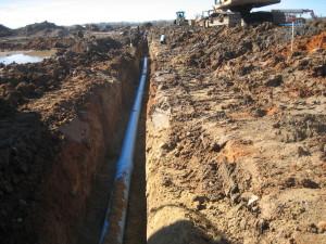 Water main line